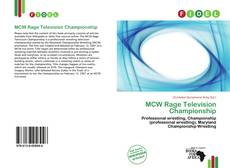 Bookcover of MCW Rage Television Championship