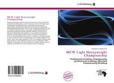 Bookcover of MCW Light Heavyweight Championship