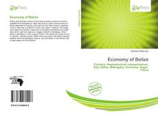 Bookcover of Economy of Belize