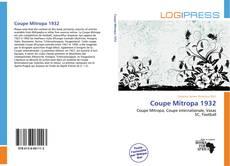 Bookcover of Coupe Mitropa 1932