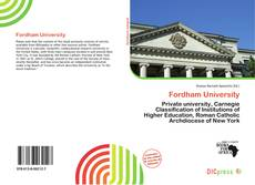 Bookcover of Fordham University