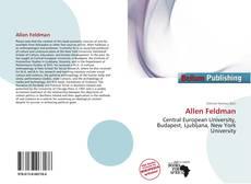Allen Feldman kitap kapağı