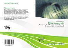 Buchcover von Rétro-acronymie