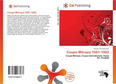 Bookcover of Coupe Mitropa 1981-1982