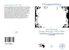 Bookcover of Coupe Mitropa 1987-1988
