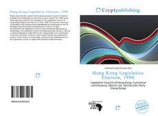 Couverture de Hong Kong Legislative Election, 1998
