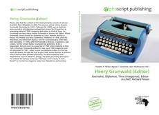 Buchcover von Henry Grunwald (Editor)
