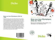 Bookcover of Boxe aux Jeux Olympiques d'été de 1936