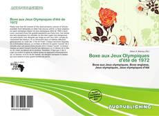 Buchcover von Boxe aux Jeux Olympiques d'été de 1972