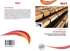 Bookcover of Grant Range