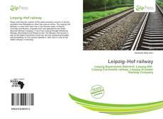 Bookcover of Leipzig–Hof railway