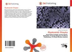 Capa do livro de Alyaksandr Chayka