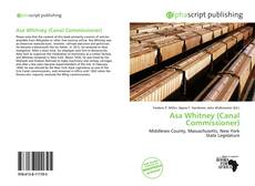 Portada del libro de Asa Whitney (Canal Commissioner)