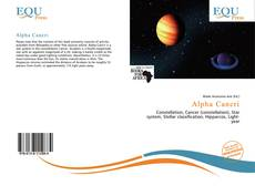 Bookcover of Alpha Cancri