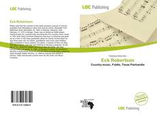 Eck Robertson kitap kapağı