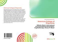 Copertina di American College of Orgonomy