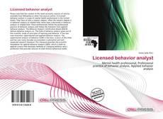 Portada del libro de Licensed behavior analyst