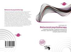 Bookcover of Behavioral psychotherapy