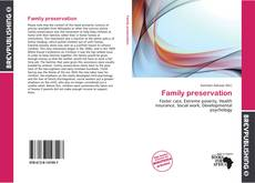 Bookcover of Family preservation