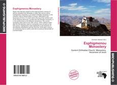 Esphigmenou Monastery kitap kapağı