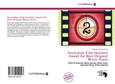 Bookcover of Australian Film Institute Award for Best Original Music Score