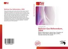 Bookcover of Bolivian Gas Referendum, 2004