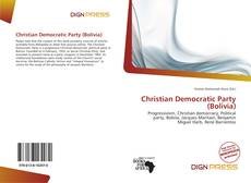 Bookcover of Christian Democratic Party (Bolivia)