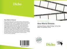 Portada del libro de Ana María Orozco