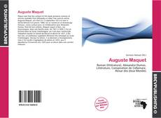 Bookcover of Auguste Maquet
