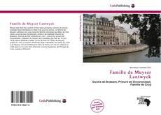 Capa do livro de Famille de Muyser Lantwyck