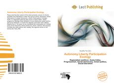 Bookcover of Autonomy Liberty Participation Ecology