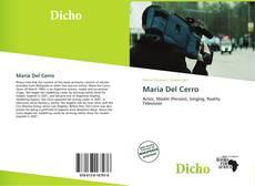 Portada del libro de María Del Cerro