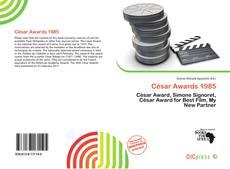 César Awards 1985 kitap kapağı