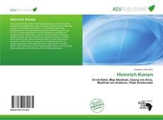 Bookcover of Heinrich Konen