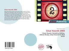 César Awards 2003 kitap kapağı