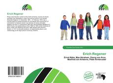 Bookcover of Erich Regener