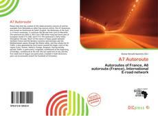 A7 Autoroute kitap kapağı