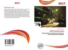 A45 Autoroute kitap kapağı