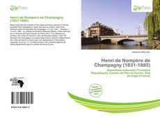 Buchcover von Henri de Nompère de Champagny (1831-1885)