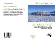 Buchcover von Maria Kirillovna de Russie