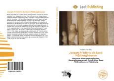 Portada del libro de Joseph-Frédéric de Saxe-Hildburghausen