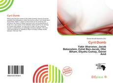 Bookcover of Cyril Domb