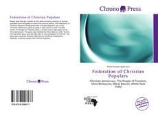 Portada del libro de Federation of Christian Populars