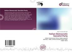 Bookcover of Italian Democratic Socialist Party