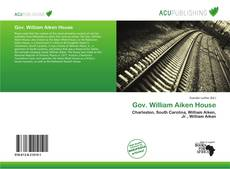 Bookcover of Gov. William Aiken House