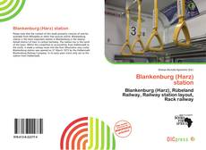 Bookcover of Blankenburg (Harz) station