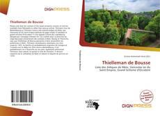Couverture de Thielleman de Bousse