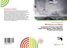Mirebeau-sur-Bèze kitap kapağı