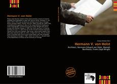 Couverture de Hermann V. von Holst