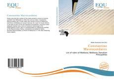 Bookcover of Constantine Mavrocordatos